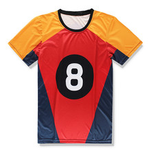 Nueva Divertido Negro 8 billar camiseta de las mujeres de los hombres  camisetas billar NO. 8 de impresión 3d camisetas ocasional. dfa7ae4debf2d