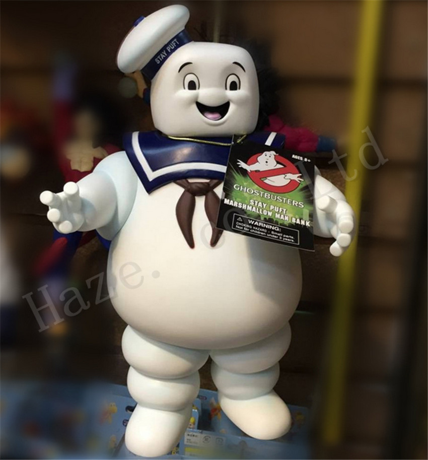 ФОТО Ghost Busters Marshmallow Giant 11'' Piggy Bank Money Box Model Doll Toy