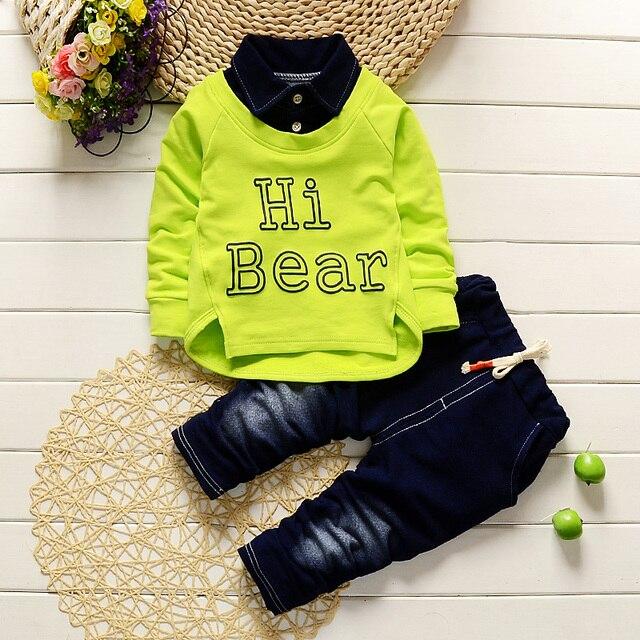 Boys Clothing Set Kids Sports Suit Children Tracksuit Boys Long shirt + pants Sweatshirt Casual Clothes Spring Style
