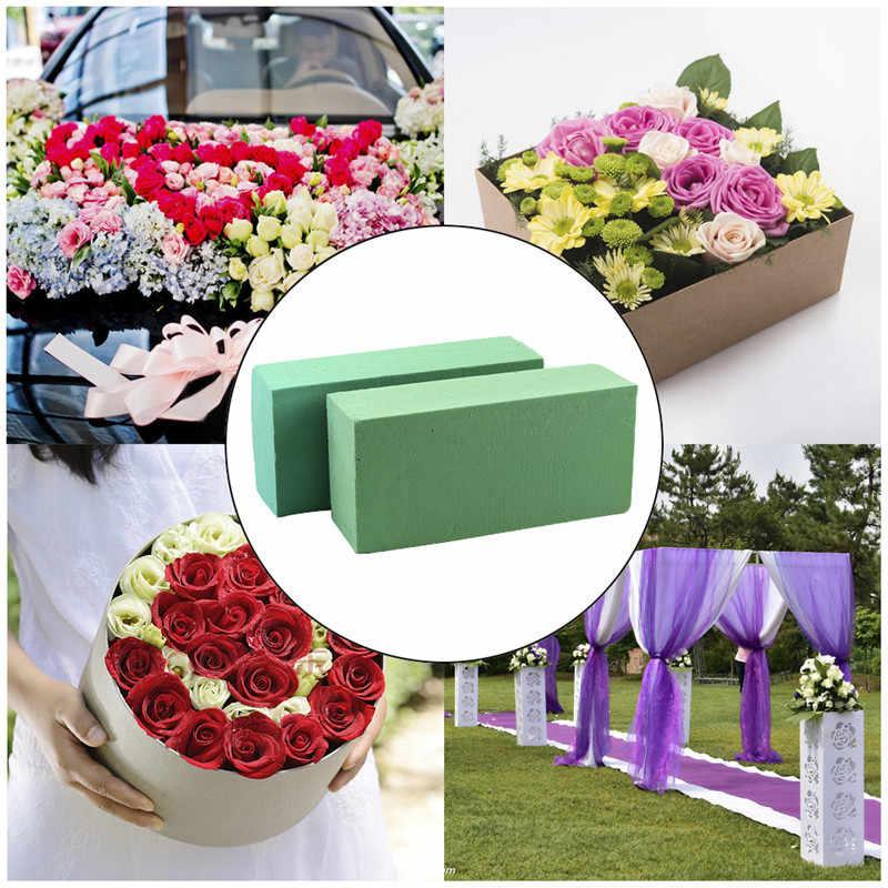 10 個花の泡ブロック、レンガの花ホルダー花屋フラワー発泡スチロールグリーンレンガ適用乾燥または湿潤人工花