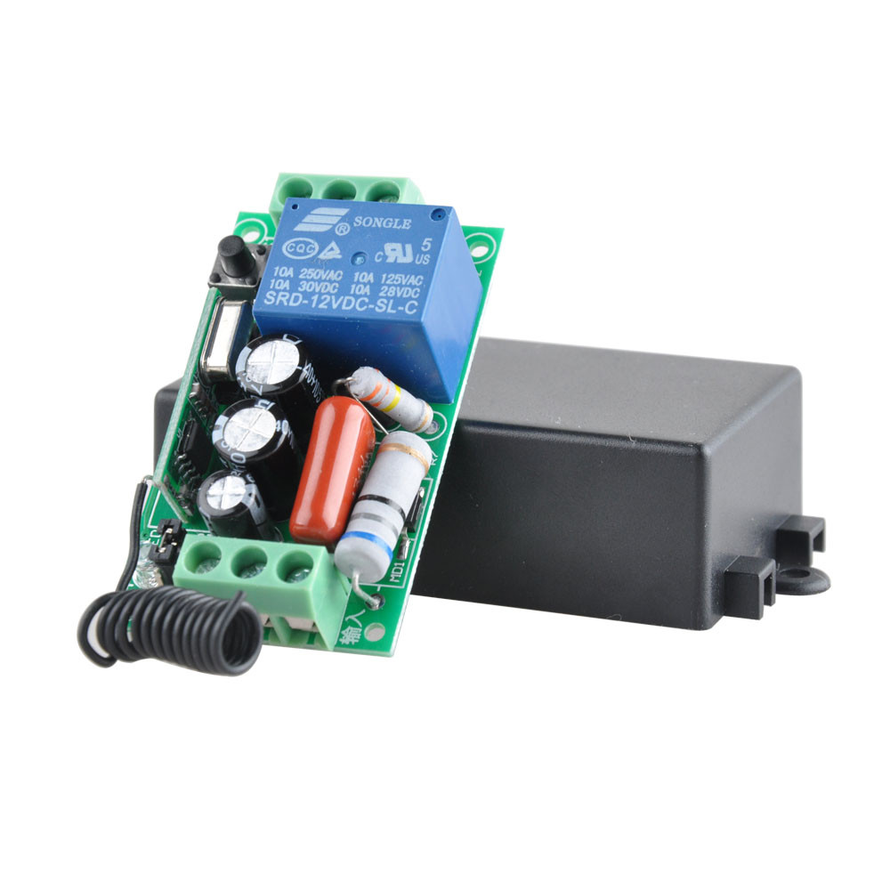 Image 5 - Wireless Remote Control Light Switch 10A Relay Output Radio 220V 1 Channel Receiver Module + 50 500M Transmitter-in Switches from Lights & Lighting