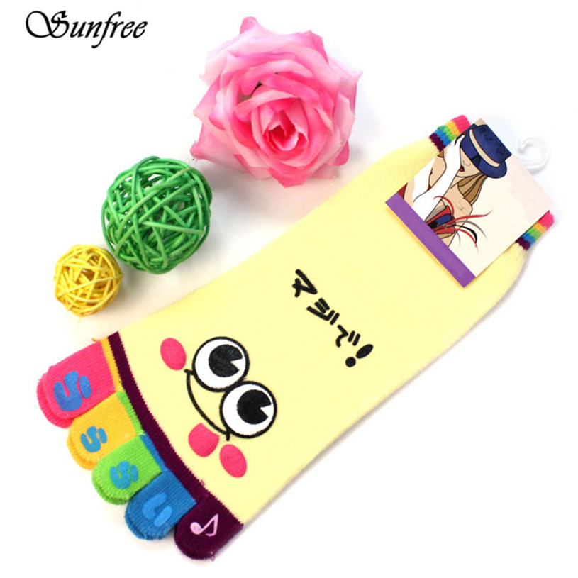 Sunfree 2016 1PCS Fashion Lady Womens Girls Smile Five Fingers Trainer Toe Ankle Socks Brand New and High Quality Nov 9