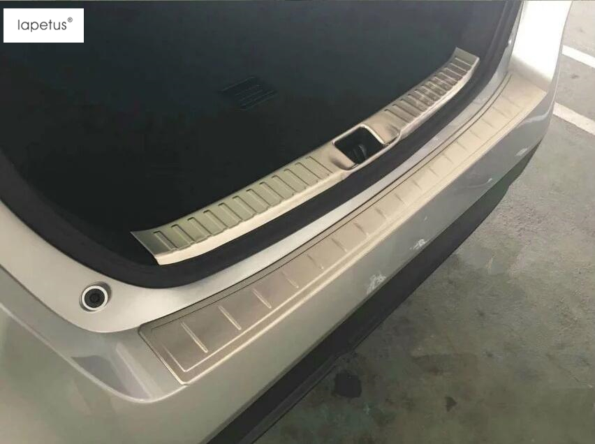 Accessories For Toyota Prius 2016 2017 Rear Bumper Foot Plate Trunk Door Sill Guard Protector Molding Cover Kit Trim 2 Pcs цена и фото