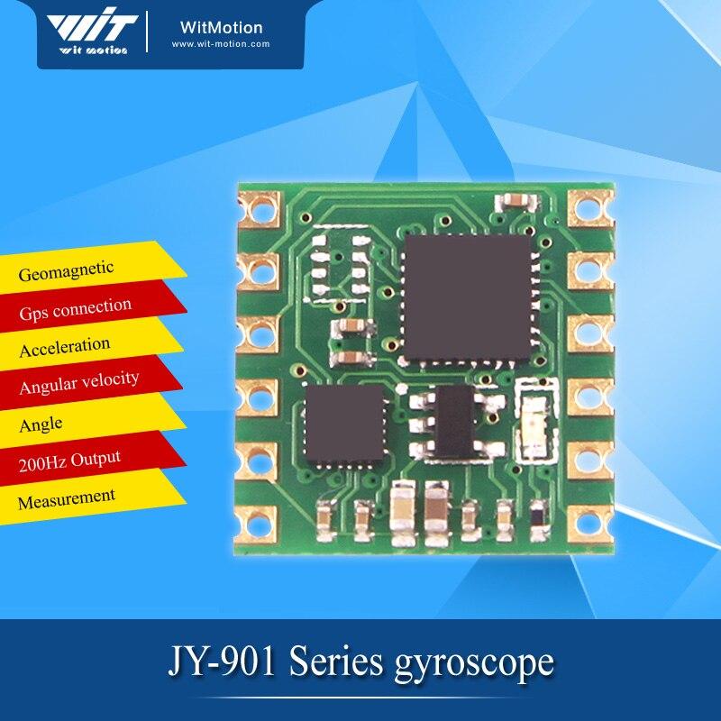 imágenes para JY901 MPU9250 ángulo módulo MPU6050 $ number ejes Giroscopio Acelerómetro de salida de puerto Serie TTL IIC Cuatro rotor de gran alcance que GY521