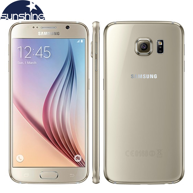 Unlocked Original Samsung Galaxy S6 4G LTE Mobile Phone 3G RAM 32G ROM 5 1 16