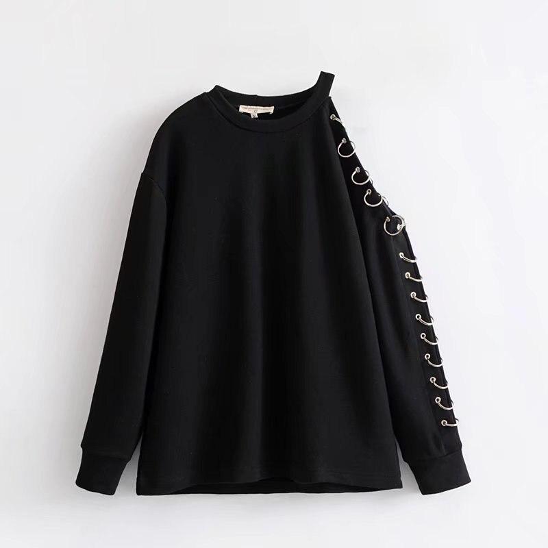 Sweatshirt Female Hoodies For Women Punk Gothic Sweatshirt Clothing Steampunk Female Sweatshirt Women 2019 DD1478 S