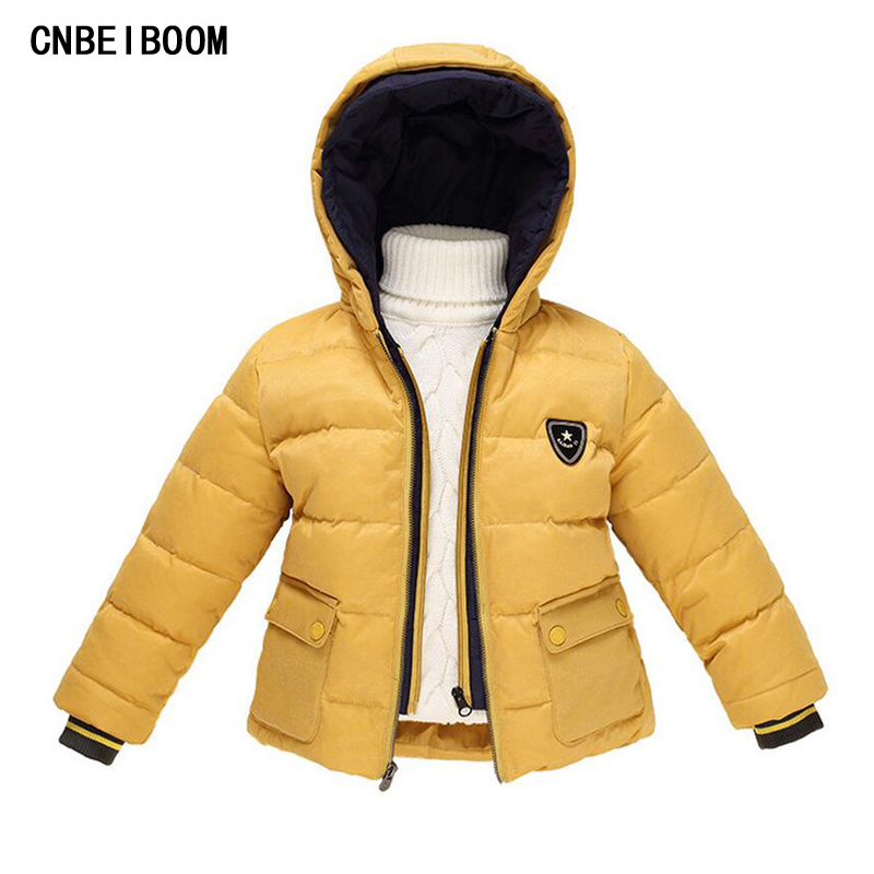 Children Boy Winter Jackets 2016 New Russia Baby Girl Snowsuit Down Fake Two Piece Jacket Kids 2-7 yrs Hooded Coat Clothing Sets