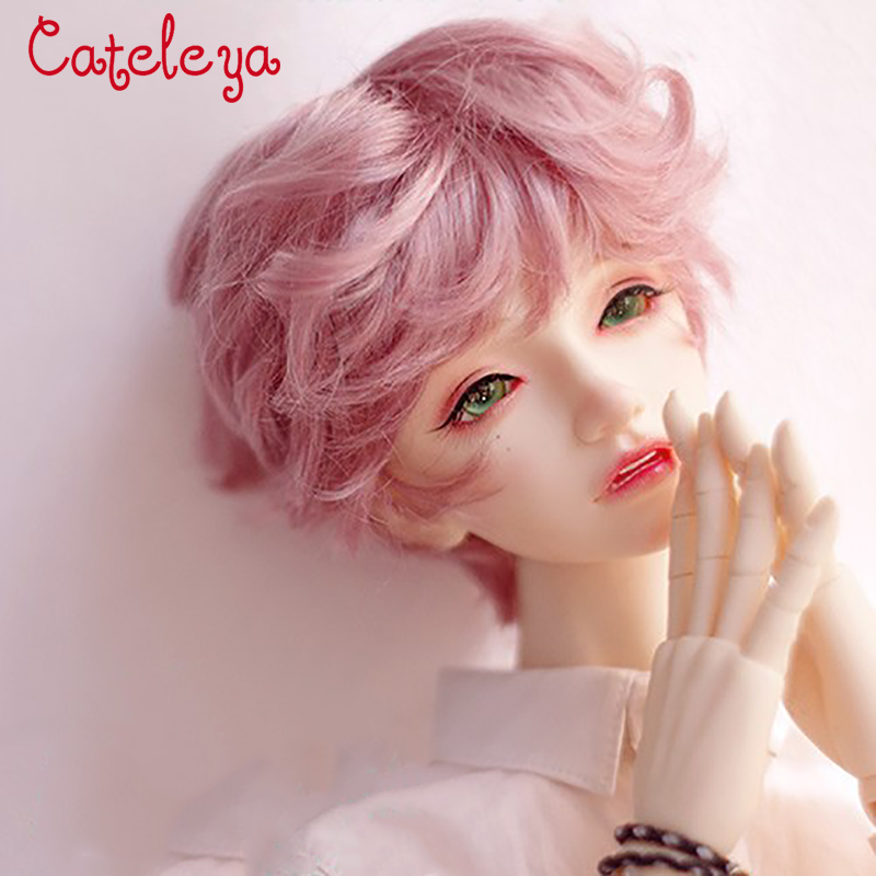 Cateleya BJD Doll With Mohair Wig Short Curly Hair 1/3 Uncle Big Female Giant Baby 1/4 1/6 Dark Brown Cinnamon Powder
