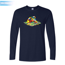 KOLVONANIG 2019 Fall New Funny Square Rubiks-Cube 3D Printed T Shirt Men Long Sleeve Male T-Shirts Cotton Mens Clothing Tops