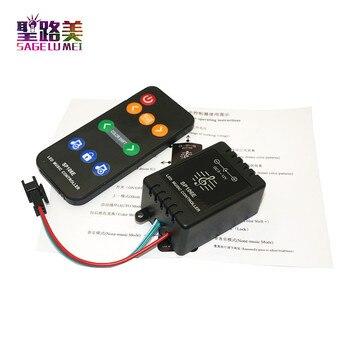 SP106E 9 клавиш Светодиодный музыкальный светодиодный контроллер DC5V-12V WS2811/WS2812B/6812/1903/6803 Волшебная Светодиодная лента цифровой музыкальный зву...