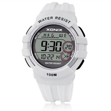 TOP World Time Boys&Girls Sports Watches Waterproof 100m Women Digital Watch Running Swimming Diving Wristwatch Montre Homme