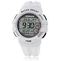 XONIX World Time Boys Girls Sports Watches Waterproof 100m Women Digital Watch Running Swimming Diving Wristwatch