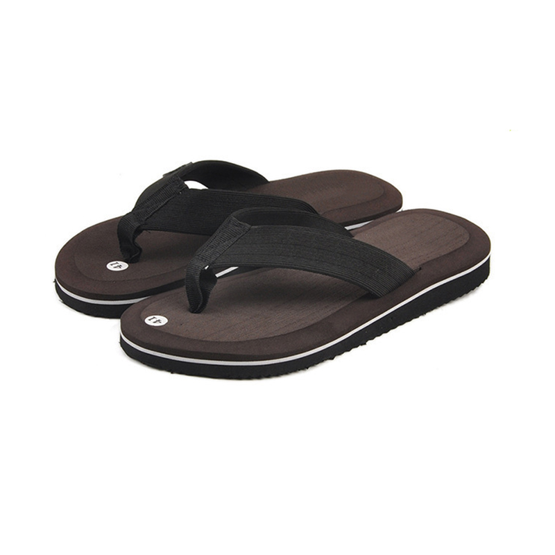 bad8cbb00671ef Summer Fashion Men s flip flops Beach Sandals for Men Flat Slippers non-slip  Shoes plus size Leisure Soft Massage Slides Thongs