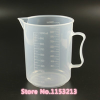 5000mL Capacity Clear Plastic Graduated Laboratory MeasuRing Set Beaker With Handle 1 Pcs Lot Wholesale