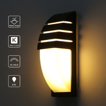 Lámpara de pared de Lemonbest impermeable al aire libre Luz de pared LED AC90-260V aluminio patio jardín porche pasillo luces retro lámpara de pared