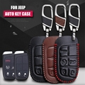 Fashion cow leather car key pack cover / key case holder shell keychain accessories for JEEP Cherokee/ Grand Cherokee 2014