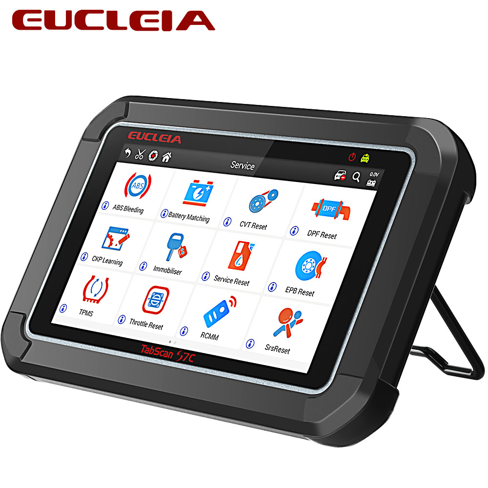 EUCLEIA Tabscan S7C OBD2 Automotive Scanner Full System Transmission Airbag  ABS SAS DPF Bleeding EPB Oil Reset Diagnostic Tool