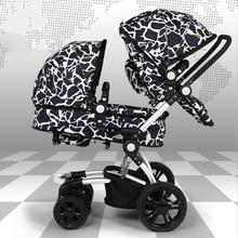 Fashion High Quality Twins Baby Stroller High Landscape Folding Easy Double Stroller Can sit Lying Shockproof Pram Twins C01