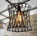 Скандинавский Лофт декор железный подвесной светильник приспособления для гостиной столовой бара подвесной светильник светодиодный Эдис...