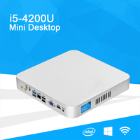 Mini PC with Intel Core i5 4200U Processor HTPC Desktop Computer 8GB Memory 120GB SSD mSATA Windows Linux Mini PCI E WiFi HDMI