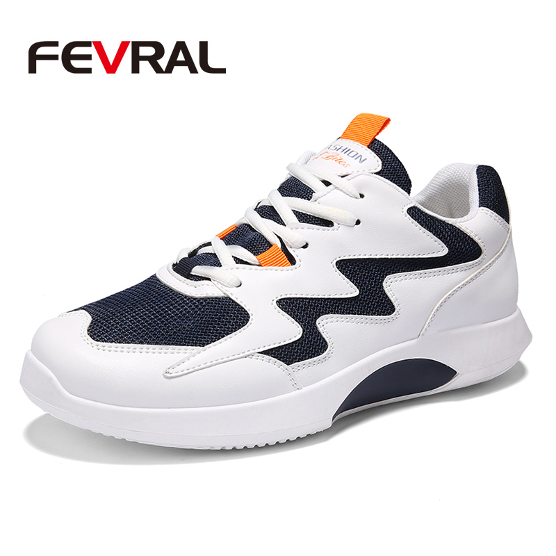 FEVRAL New Breathable Running Shoes For Man Black White Sport Shoes Men Sneakers Summer Running Walking Outdoor Sport Run Shoes