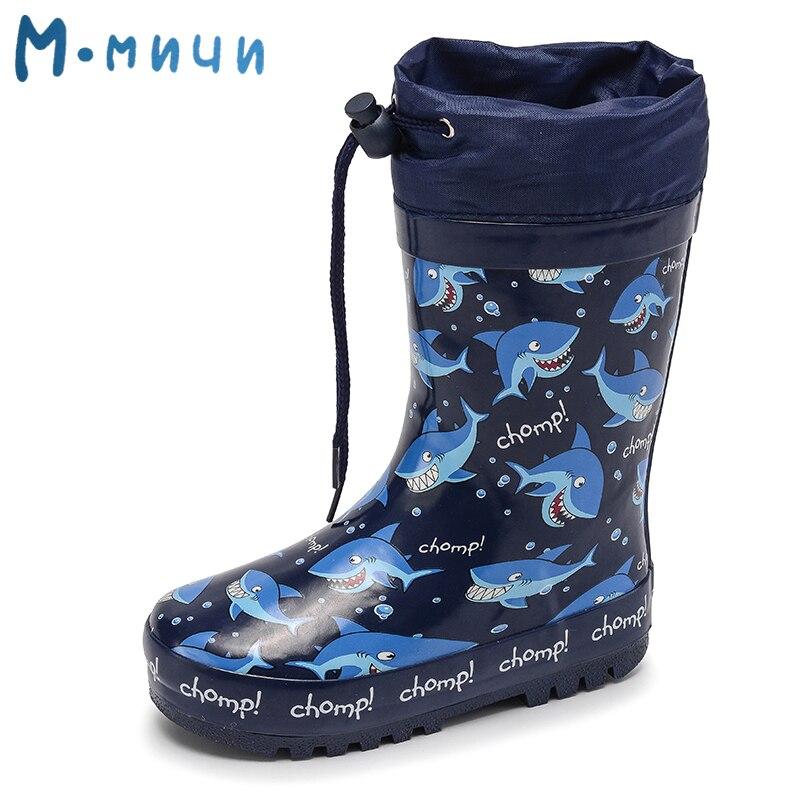MMNUN Größe 24-29 Kinder Regen Stiefel Rainning Warme Rain kinder Gummi Schuhe Jungen Kleinkind Kinder Stiefel ML8035A