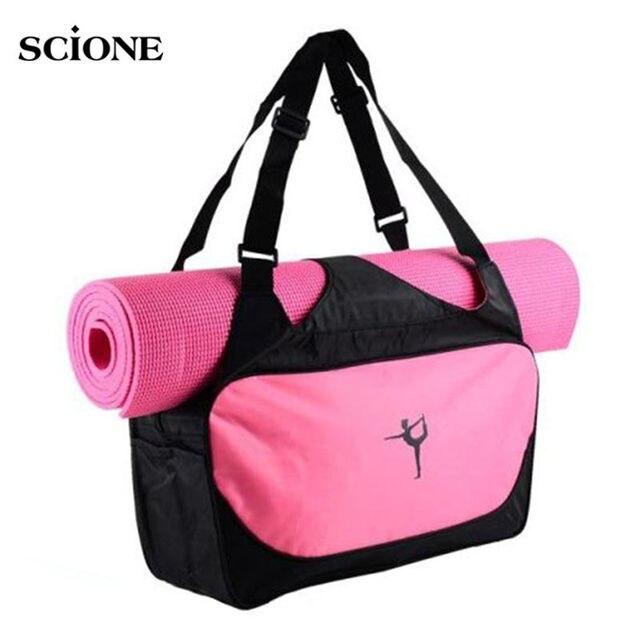 0fe9d7529693 Коврик для йоги сумка Многофункциональный рюкзак плеча Спортивные сумки для  Для женщин Фитнес Duffel одежда Gym