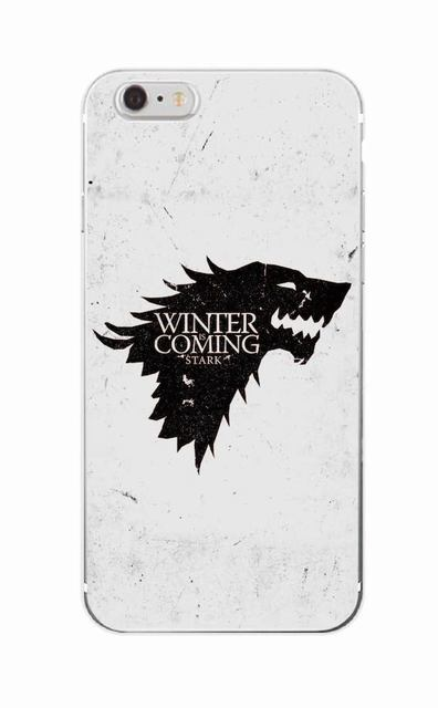 Game Of Thrones Soft Phone Case For iPhone 7 7plus 6 6S 6Plus 5 5S 5C