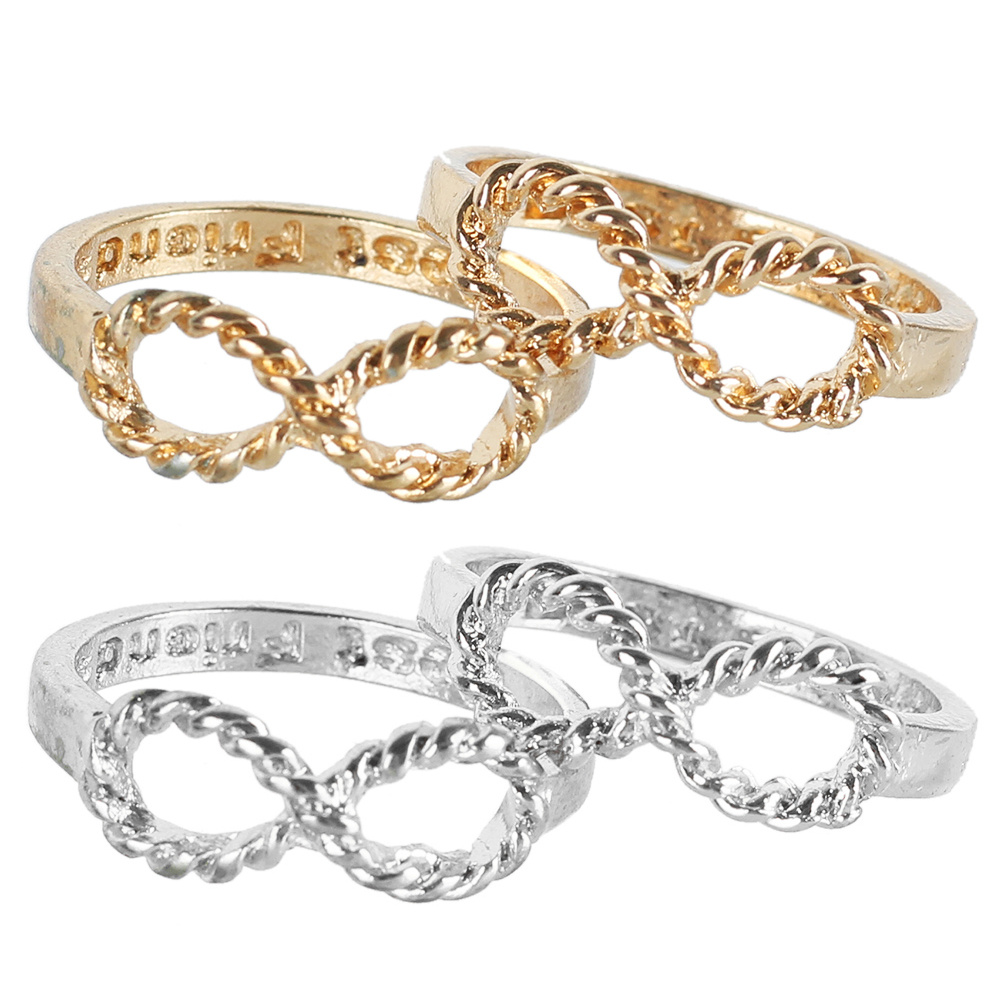 Compare prices on symbolism of rings online shoppingbuy low price 2pcs fashion infinity rings best friends letter friendship love promise infinity symbol ring women jewelry gift buycottarizona Choice Image