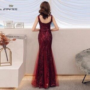 Image 2 - Robe de bal style sirène, en paillettes, sexy, avec fermeture éclair au dos, robes de bal, modèle 2019