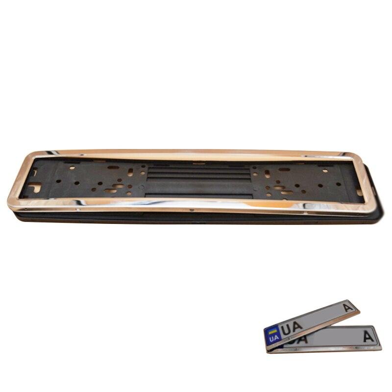 Plata europea marco de la matrícula de acero inoxidable 8 K (espesor ...