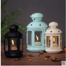 The candle holder European style antique coffee shop home decoration candlelight dinner wedding props