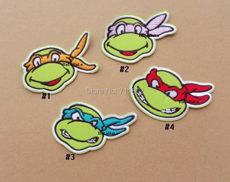 Teenage Mutant Ninja Turtles iron on patches embroidered cloth patch Good quality accessory wholesale