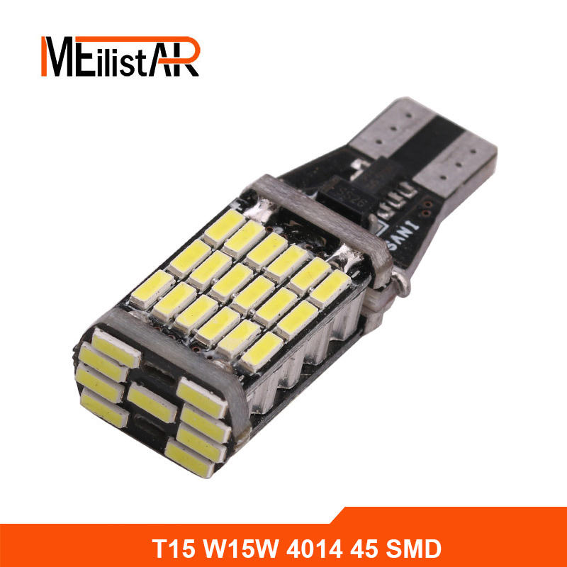 1pcs 12V Canbus 921 912 T10 T15 45 LED 4014 SMD 45SMD no polarity T16 Bulb Light Parking Backup signl Lamp Auto No Error 2pcs t15 led bulb for reverse backup light t15 w16w 912 921 led 2835 smd chip canbus error free tail light amber orange lighting