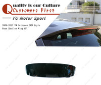 Car Accessories Carbon Fiber OEM Style Rear Spoiler Fit For 2008 2012 Scirocco Rear Spoiler Wing