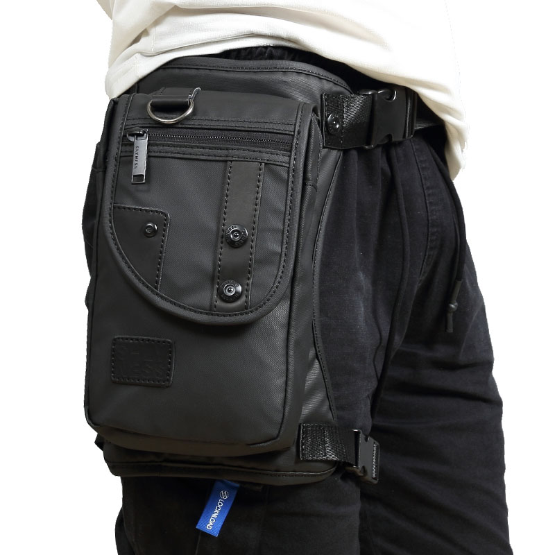 Men Oxford/Nylon/Canvas Drop Leg Bag Hip Belt Bum Waist Fanny Pack Crossbody Shoulder Bag For Travel Tactical Motorcycle Cycling