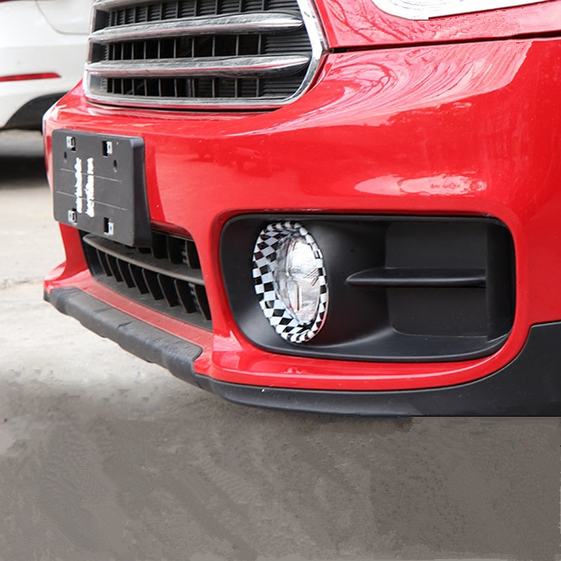 2pcs ABS Car Front Headlight Ring Cover Fog Light Lamp Trim Stickers for Mini Cooper Countryman F60 2017 Exterior Styling