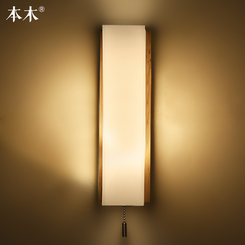 Modern japanese style led lamp oak wooden wall lamp lights sconce modern japanese style led lamp oak wooden wall lamp lights sconce for bedroom home lightingwall sconce solid wood wall light in led indoor wall lamps from aloadofball Images
