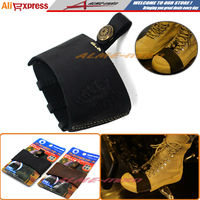 Newest Hot sell Motorcycle Black Pedal Gearshift Leather Shift Sock Boot Shoe Protector With 3D Logo