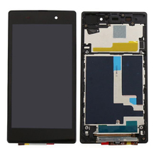 AAA Quality For Sony Xperia Z1 L39H L39 C6902 C6903 C6906 LCD Display + Touch Screen Digitizer Assembly with frame Free shipping