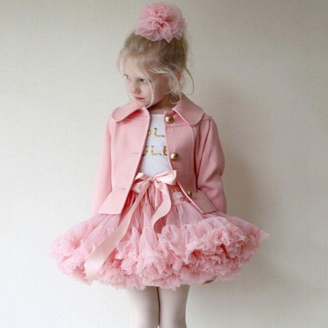 Детские воздушные юбки-американки из шифона для девочек юбка-пачка для малышей нарядная фатиновая юбка для танцев пышный костюм