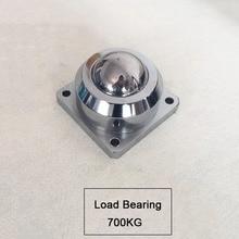 2PCS Heavy duty square base universal ball cattle eye ball platform equipment cattle eye wheel load bearing 700Kg JF1486