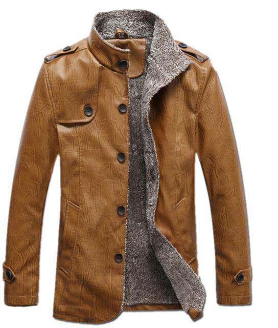 Heren Winterjas Bont.Dikke Warme Heren Faux Bontjas 2015 Nieuwe Merk Suede Jacket