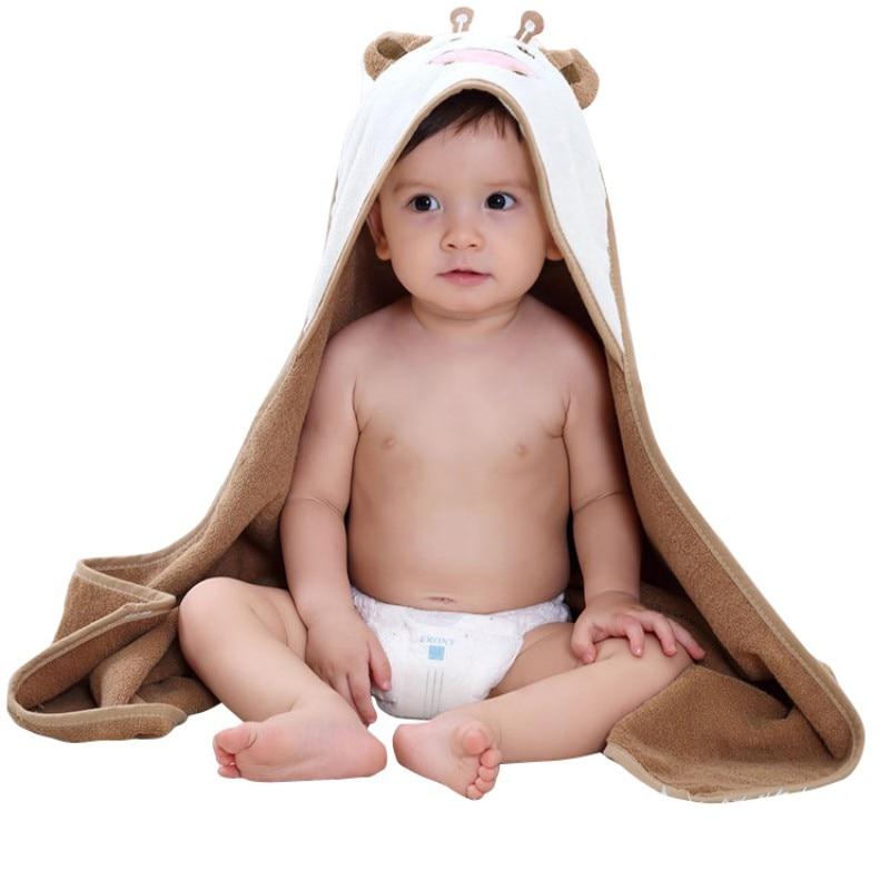 Baby Boys Girls Cape Cloak Towels Newborn Cotton Bath Towel Infant Soft Cartoon Hooded Towel Wrap Blanket Sleepsack