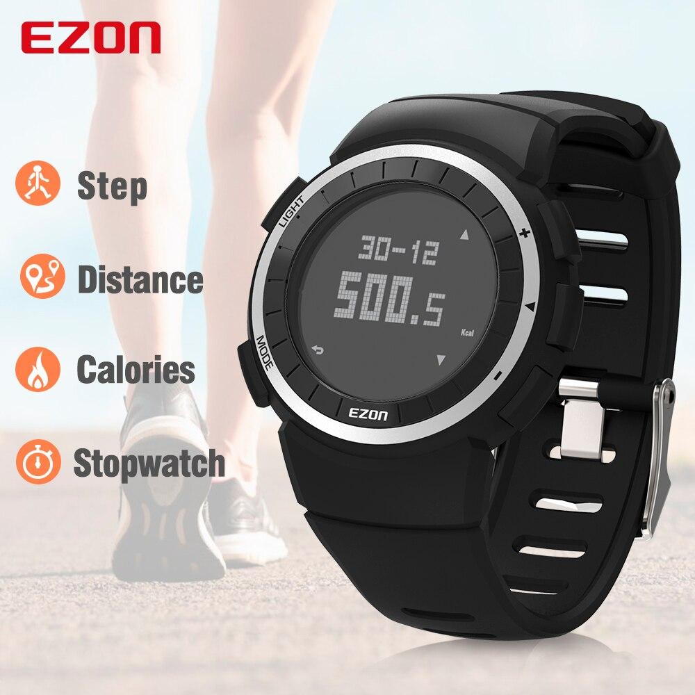 Digitale Uhren Top Marke Ezon T031 Wiederaufladbare Gps Timing Uhr Laufen Fitness Sport Uhren Kalorien Zähler Abstand Tempo 50 M Wasserdichte Herrenuhren