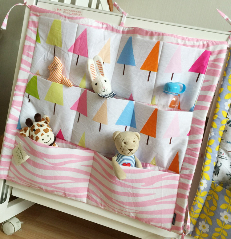 2016 New Muslin tree Baby Cotton Bed Hanging Storage Bag Crib Organizer Toy Diaper Pocket for Crib Bedding Set 60*50cm Hot Sale-in Bedding Sets from Mother ... & 2016 New Muslin tree Baby Cotton Bed Hanging Storage Bag Crib ...