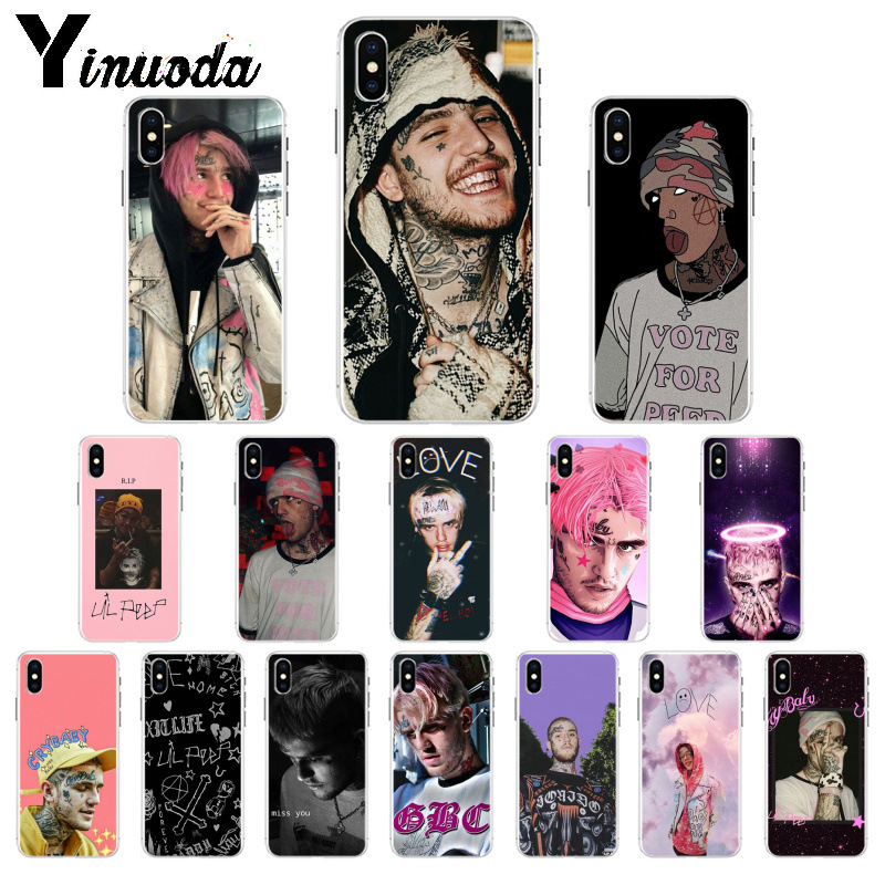 Yinuoda Hip Hop Rapper <font><b>Lil</b></font> <font><b>Peep</b></font> Customer High Quality Phone <font><b>Case</b></font> for <font><b>iPhone</b></font> X XS MAX 6 6s 7 7plus <font><b>8</b></font> 8Plus 5 5S SE XR image