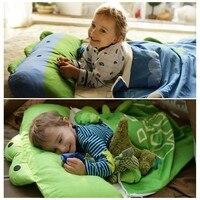 Лидер продаж! Моделирование мультфильм животных хлопковые спальный мешок зимние для маленьких девочек для мальчиков/Дети Теплый сна сумки,...