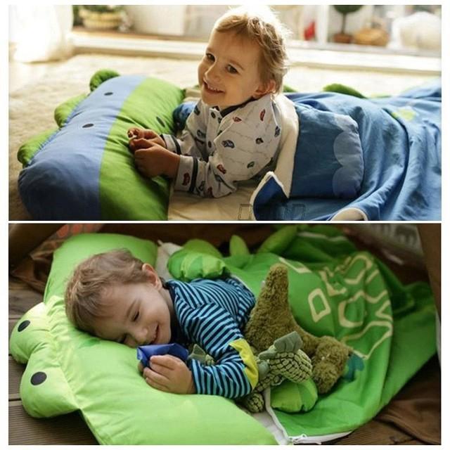 HOT! modelagem dos desenhos animados de animais do bebê do algodão saco de dormir de inverno da criança do menino da menina da criança/crianças sacos de dormir Quente, tamanho: 130*105 cm, 1-4 anos