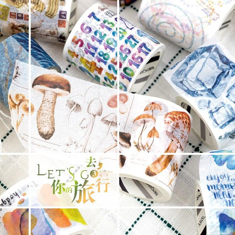 Third Season Let's Go Travel Washi Tape DIY Scrapbooking Sticker Label Masking Tape School Office Supply Gift Stationery